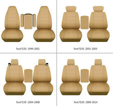 Ford f150 1999-2014 cotton car seat covers tan , select  seat style