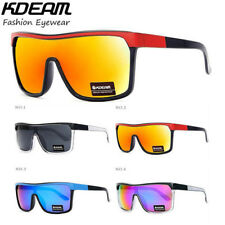 Kdeam Mens Sport Large Oversize Sunglasses Outdoor Driving Cycling Goggles New