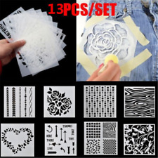 13PCS Flower Embossing Template Scrapbooking Walls Painting Layering Stencils