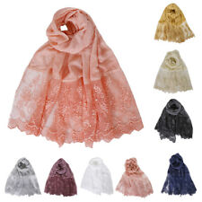 New Women Long Soft Scarf Ladies Chiffon Shawl Flower Printed Stole Scarves Wrap