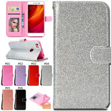 For Xiaomi Redmi Note 5A Bling Stand Card Glitter PU Leather Wallet Case Cover