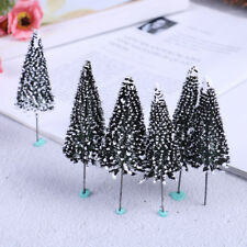 10PCS sand table Dark Green Landscape model cedar trees Scenery Landscape HO