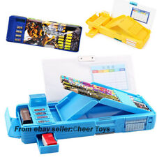 3 Colors Transformers Students Pencil Case Multifunction Stationery Box