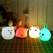Touch Silicone Led Night Light USB Rechargeable Baby Children Kids Gift Animal