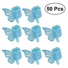Paper Napkin Ring 3D Butterfly Creative Napkin Bands for Wedding Evening