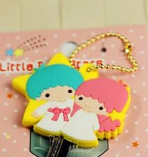 Little Twin Star Totoro Minions Rilakkuma Soft Rubber Key Cap Cover Chain