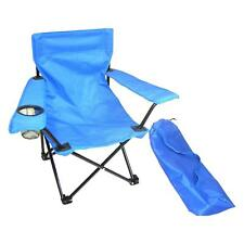 Folding Camp Chair Steel Frame Scratch Resistant With Cup Holder For Children