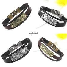 Casual Vintage Style Artificial Leather Letter Pattern Layered Bracelet RLWH 01