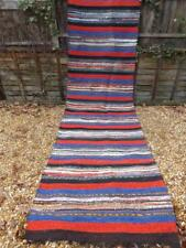 VINTAGE 1960s HAND MADE VERY LONG 3 METRES COTTON RUG KILIM from BALKAN