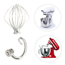 For KitchenAid Spiral Dough Hook Stand Mixer Wire Whip Beater Attachment Whisk