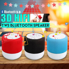 TWS Wireless Mini Pocket Bluetooth Speaker HIFI Super Bass Stereo USB Subwoofer