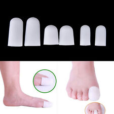 2X Silicone Gel Tube Bandage Toe Protectors Foot Feet Pain*Relief Feet Care BS