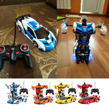 1:18 RC Car Transformer RC Robot Remote Control Toys w/ Sounds LED Lights Gifts