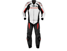 """SPIDI """"Supersport"""" Touring Motorcycle Leather Suit (2-Pc) Black/White/Red"""