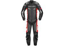 """SPIDI """"Track Touring"""" Motorcycle Leather Suit (2-Pc) Black/Red"""