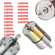 DC 12V 2-1000RPM Powerful High Torque Electric Gear Box Motor Speed Reduction