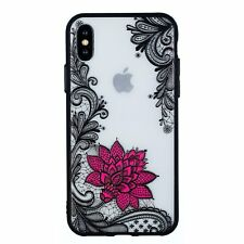 #3 Lace Silicone Protective TPU Soft Case Cover For Apple iPhone 6 6S 7 8 Plus X