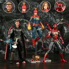 "Avengers 4 Action Figure Captain America Marvel Thor Iron Spider Man 6"", No Box"