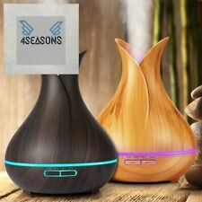 Oil Diffuser Wood Grain Ultrasonic Cool Mist Humidifier 7 Color LED For Home NEW