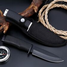 Fixed Blade knife titanium steel blade + Rubber handle outdoor camping hunting