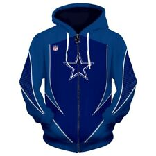 NEW DALLAS COWBOYS Zip Up Hoodie Zip Hooded Pullover S-5XL Football Team Fans