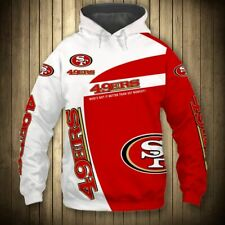 New San Francisco 49ers Hoodie Hooded Pullover S-5XL Football Team Fans