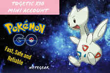 Pokemon Go BOOSTED Togetic x10 Mini Account || 30k+ stardust + full bag of items