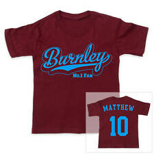 BURNLEY Football Personalised Boys/Girls T-Shirt