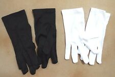 NEW WRIST GLOVES DANCE EASTER THEATRICAL BLACK WHITE