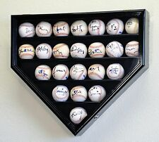 23 Baseball Ball Display Case Cabinet Holder Rack Home Plate Shaped w/98% UV Pro