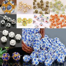 Crystal Hollow Loose Spacers Ball Bead Finding 10x10mm