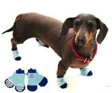 Dog Socks Traction Control Non Slip Skid Bootie - Blue