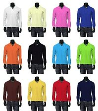 New Mens Stylish Long-Sleeve Polo-shirts Collection.