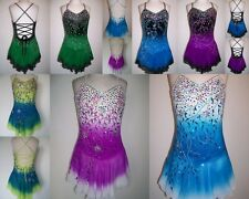 Ice/Roller skating Dress/Baton Twirling Leotard Tap Costume Majorettes Cheer