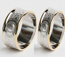 Set 14k Gold and Sterling Silver Irish Handcrafted Warrior Rings sizes 4 to 13