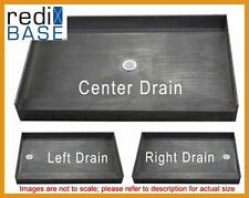 Tile Ready Bathtub Replacement 37 x 60 Shower Pan Redi Base with Curb #3760-PVC