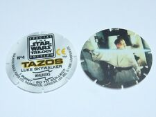 Star Wars Trilogy Tazos - Luke Skywalker or Darth Vader Numbers 4, 25 or 36