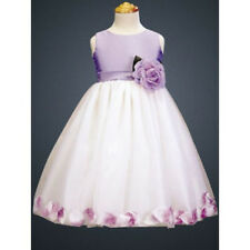Lilac petal flower girl dress Lavendar dress purple flower girl Sz 2 – 12 *141*