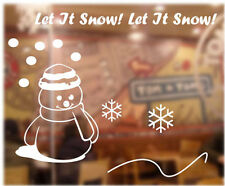 Christmas Decoration Snow Man Sign Kid Wall Stickers / Wall Decals / Wall Mural