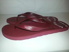 NWT Hollister Navy or Brown Flip Flops Sandals Classic Beach Style M, L, or XL