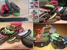 Paracord 550 Survival Bracelet Choose Color - Binding - Cobra Weave MADE in USA