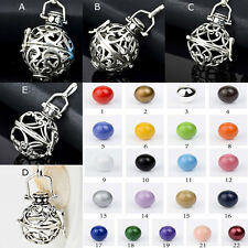 Silver Harmony ball Mexican Bola Gingle Bell PENDANT Diy cage and ball choice