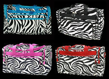 "Zebra Duffle Bag 16"" or 19"" Tote Purse Shopping Diaper School Book Gym Duffel"