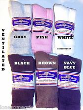 6 Pairs 9-11 Physicians Choice Diabetic Crew Socks Sock  Choose Color  US Made!