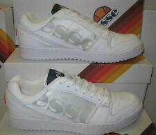 "Men's Ellesse White Leather Fashion Trainers ""Assist 11 Low """