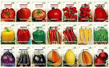 Vegetable Seeds 30 VARIETIES Pepper Tomato Eggplant Zucchini Squash Cabbage etc