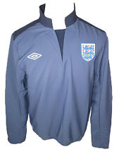 England Umbro blue polyester matchday football training drill top jacket 7101U