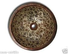 Mexican Hand Painted Copper Sink Round 'Blissful'