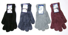 New Ladies Micro Chenille Winter Gloves - DP Outdoors - Black Blue Gray Burgundy