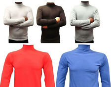 MEN`S POLO NECK LONG SLEEVE COTTON TOPS ALL SIZES & COLOURS